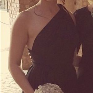 Black convertible top evening dress